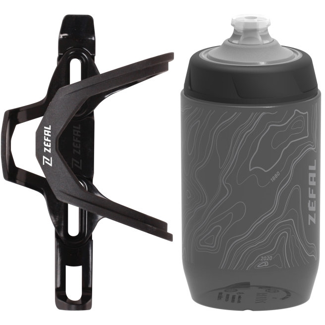 Zéfal Set Pulse Z2 / Sense Pro50 - Flaschenhalter + Trinkflasche 500ml - black/grey