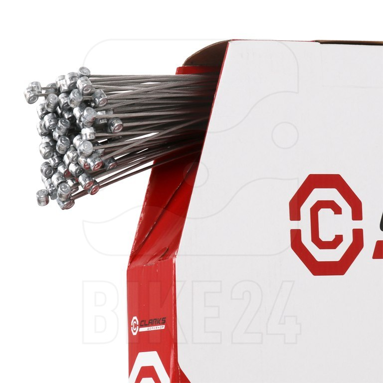 Clarks Dispenser Box - Long Life MTB Braking Cables - Stainless Steel - 100 pieces