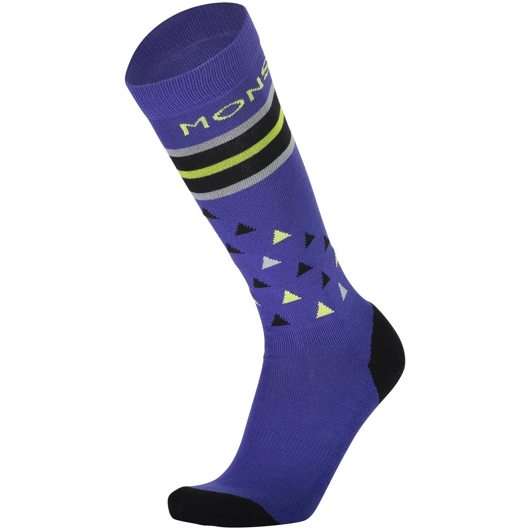 Mons Royale Lift Access Socks 100127 - ultra blue/black