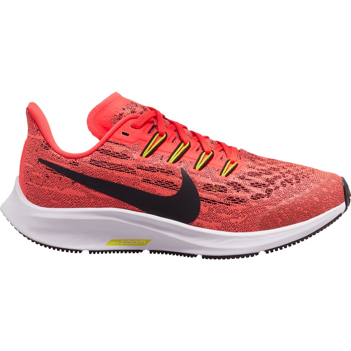 Nike Air Zoom Pegasus 36 Kids' Running Shoe - laser crimson/black-bright cactus-white AR4149-619