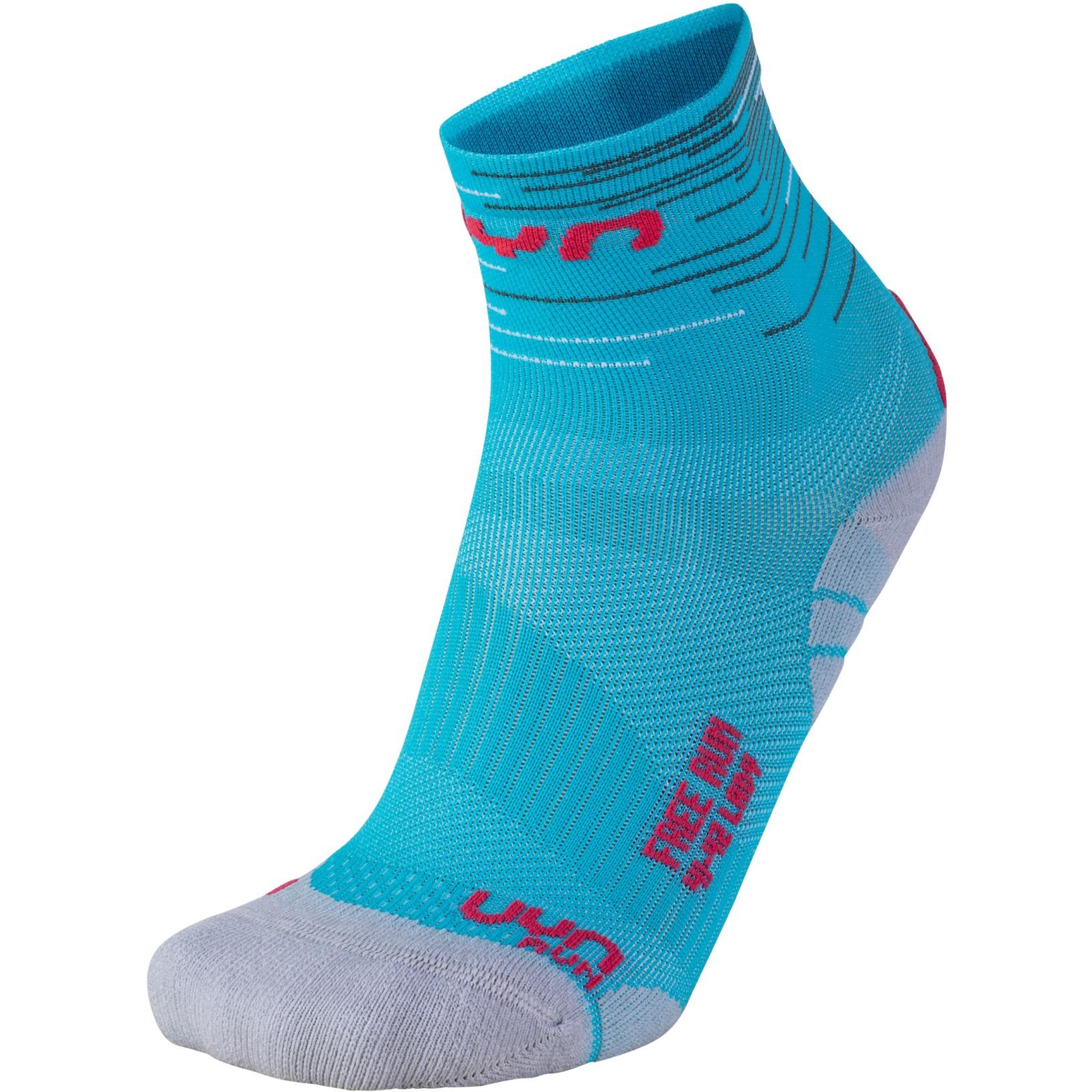 UYN Free Run Socken Damen - Turquoise/Coral