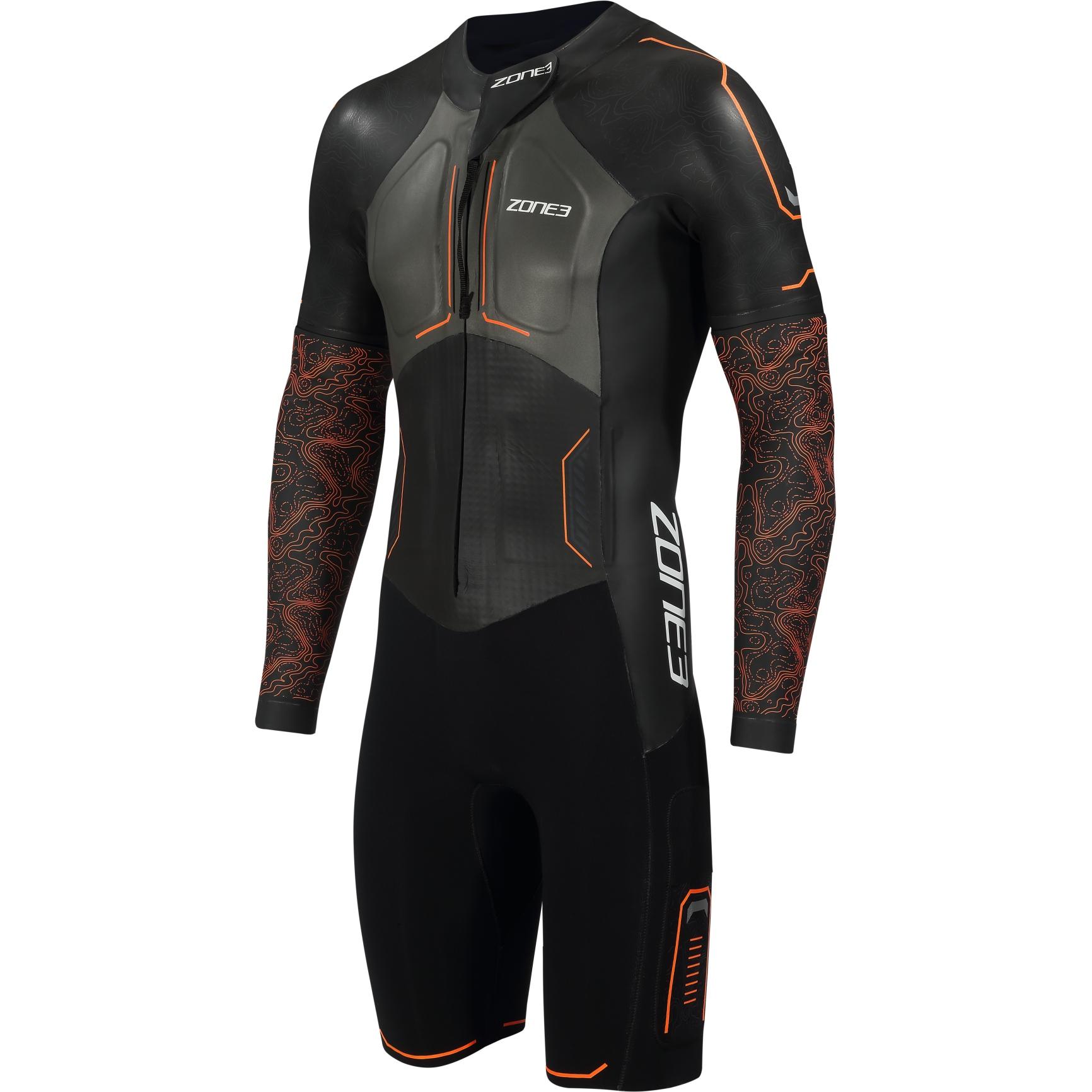 Zone3 Men's Evolution Swimrun Wetsuit - black/orange/gunmetal