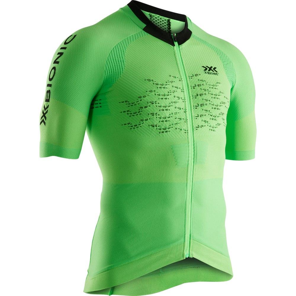X-Bionic The Trick 4.0 Bike Full Zip Shirt Short Sleeves for Men - amazonas green/opal black