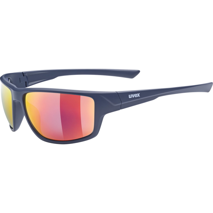 Uvex sportstyle 230 Glasses - blue mat/mirror red