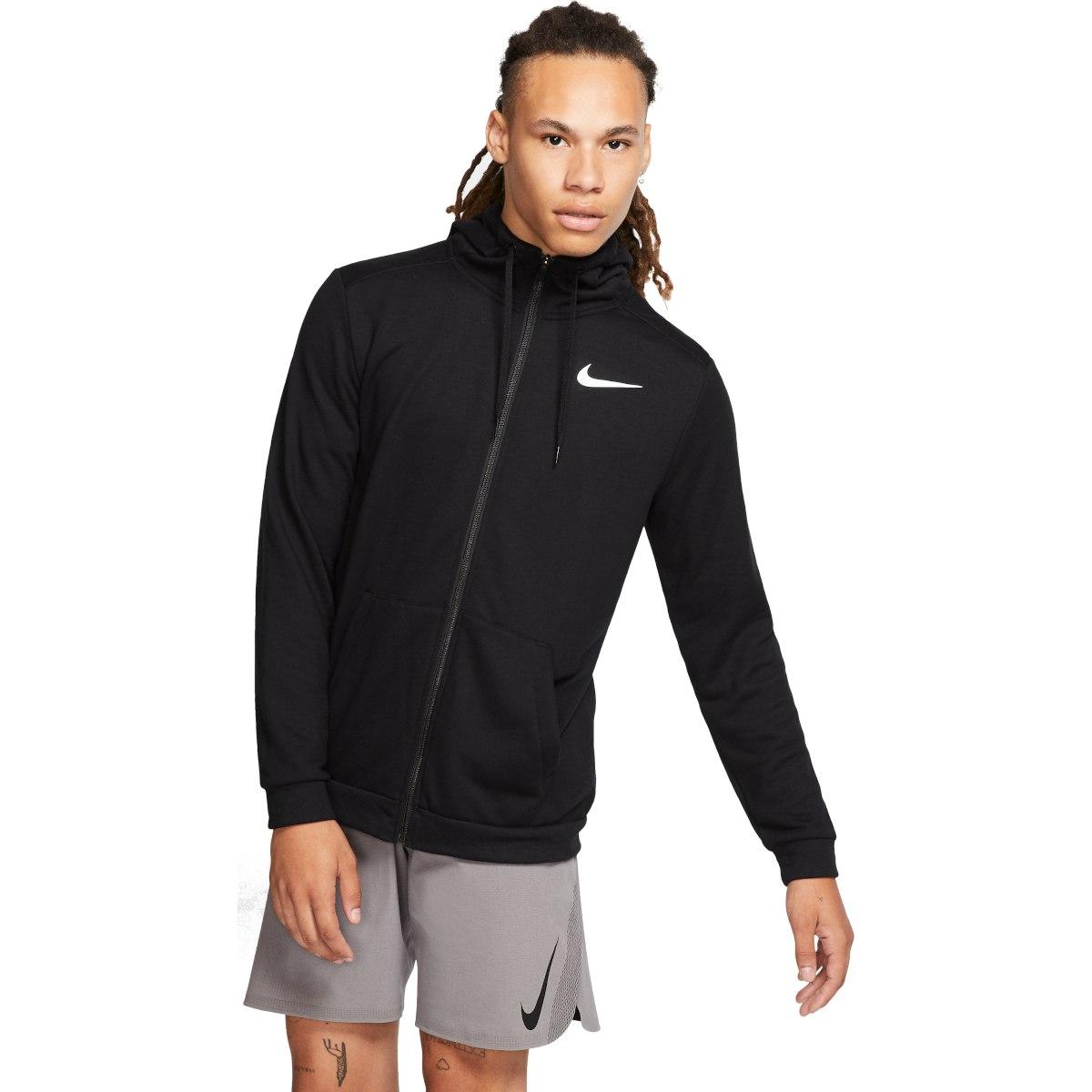Foto de Nike Dri-FIT Men's Full-Zip Training Hoodie - black/white CJ4317-010
