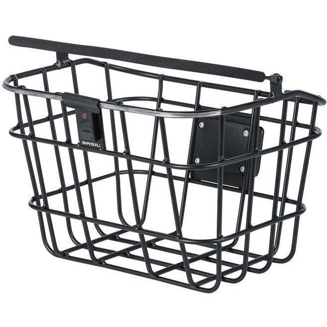 Basil Bremen Alu BE/KF Nordlicht Front Wheel Basket - black