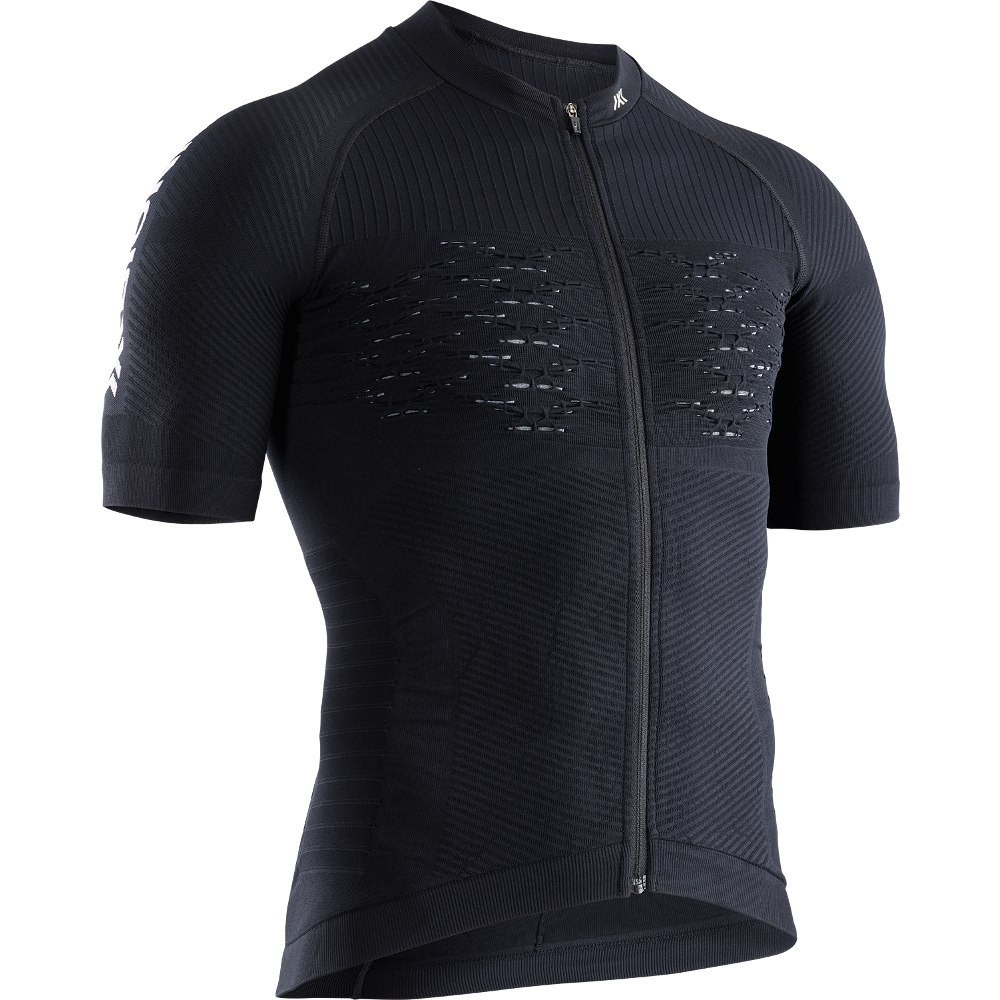 Bild von X-Bionic Effektor 4.0 Bike Full Zip Kurzarmtrikot für Herren - opal black/arctic white