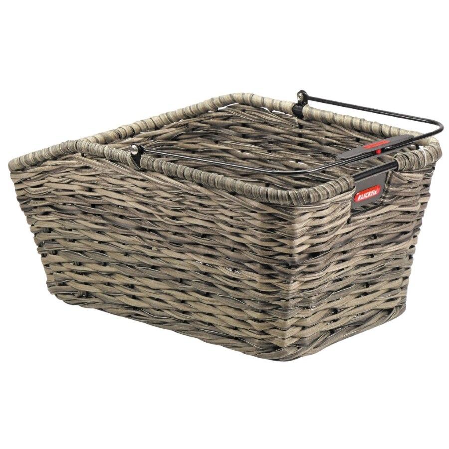 Image of KLICKfix Structura GT Bike Basket for KorbKlip Carriers 0315K - reed brown