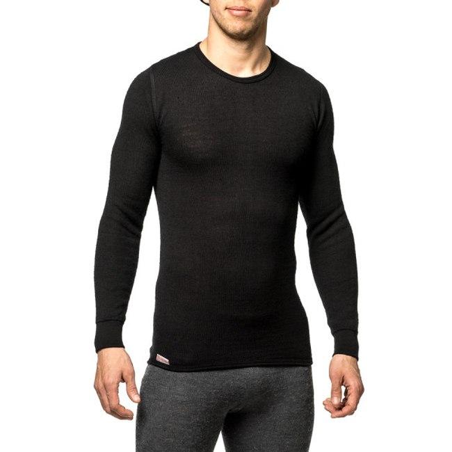 Bild von Woolpower Crewneck 200 Unisex Langarm-Unterhemd - schwarz