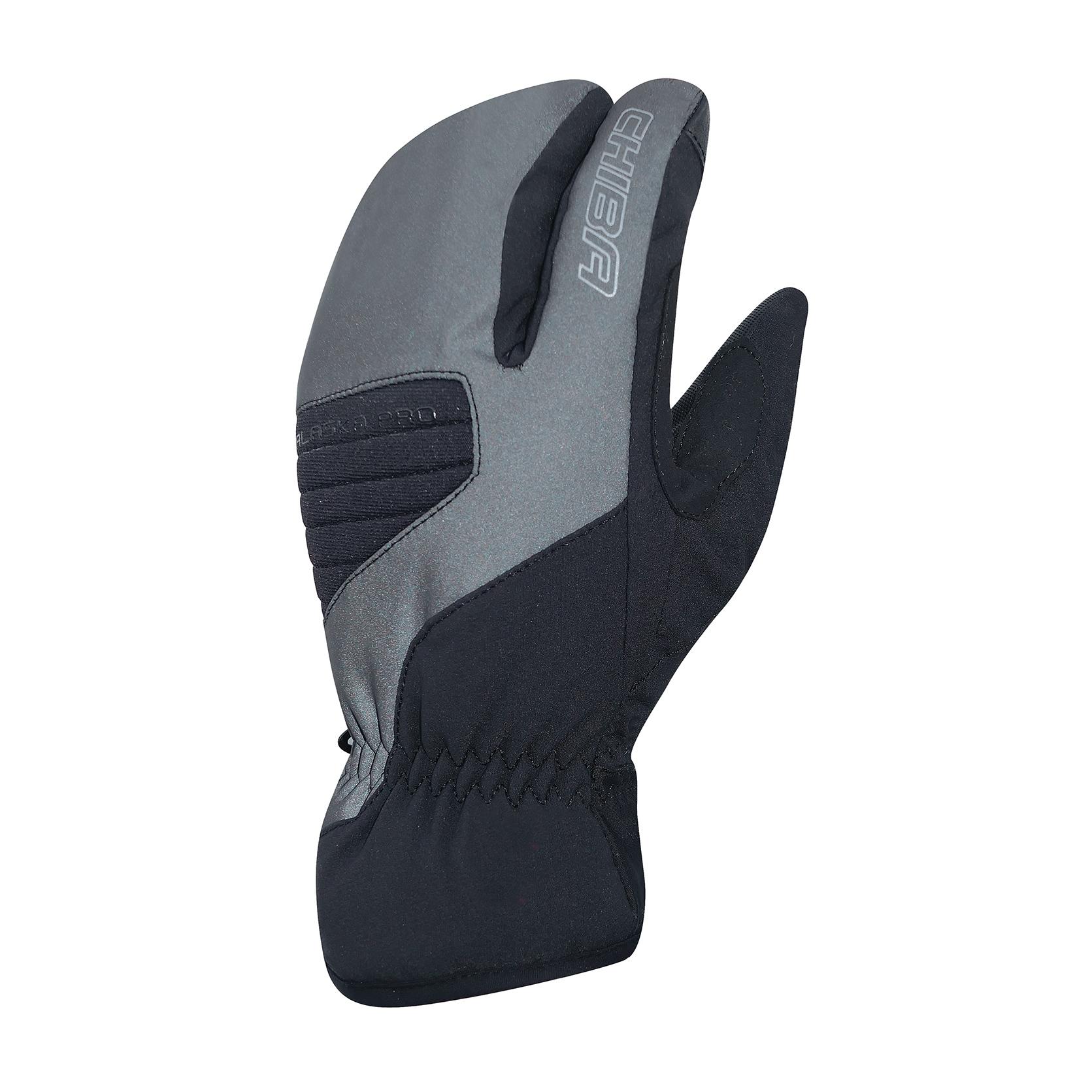 Chiba Alaska Pro Cycling Gloves - black reflective