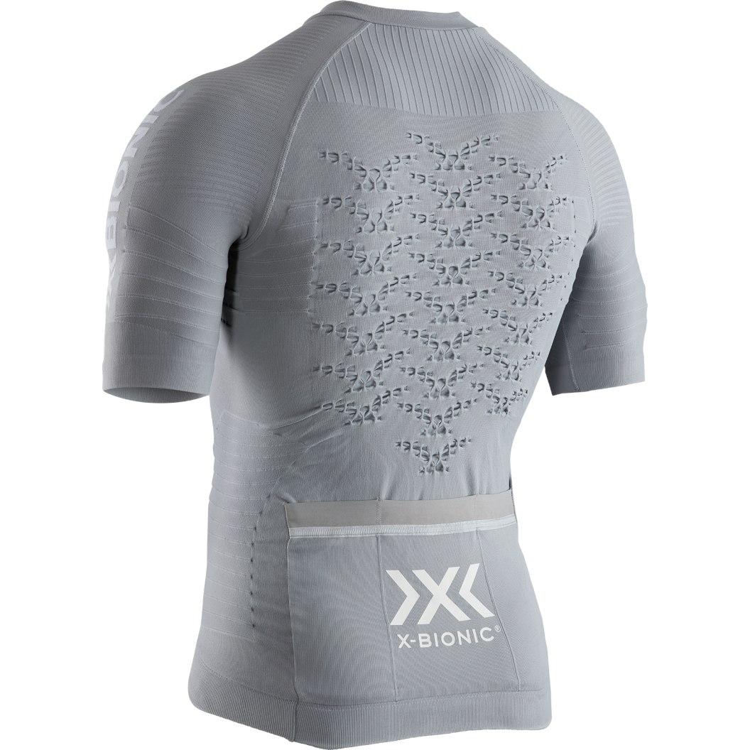 Image of X-Bionic Effektor 4.0 Bike Full Zip Short Sleeves Shirt for Men - dolomite grey/arctic white