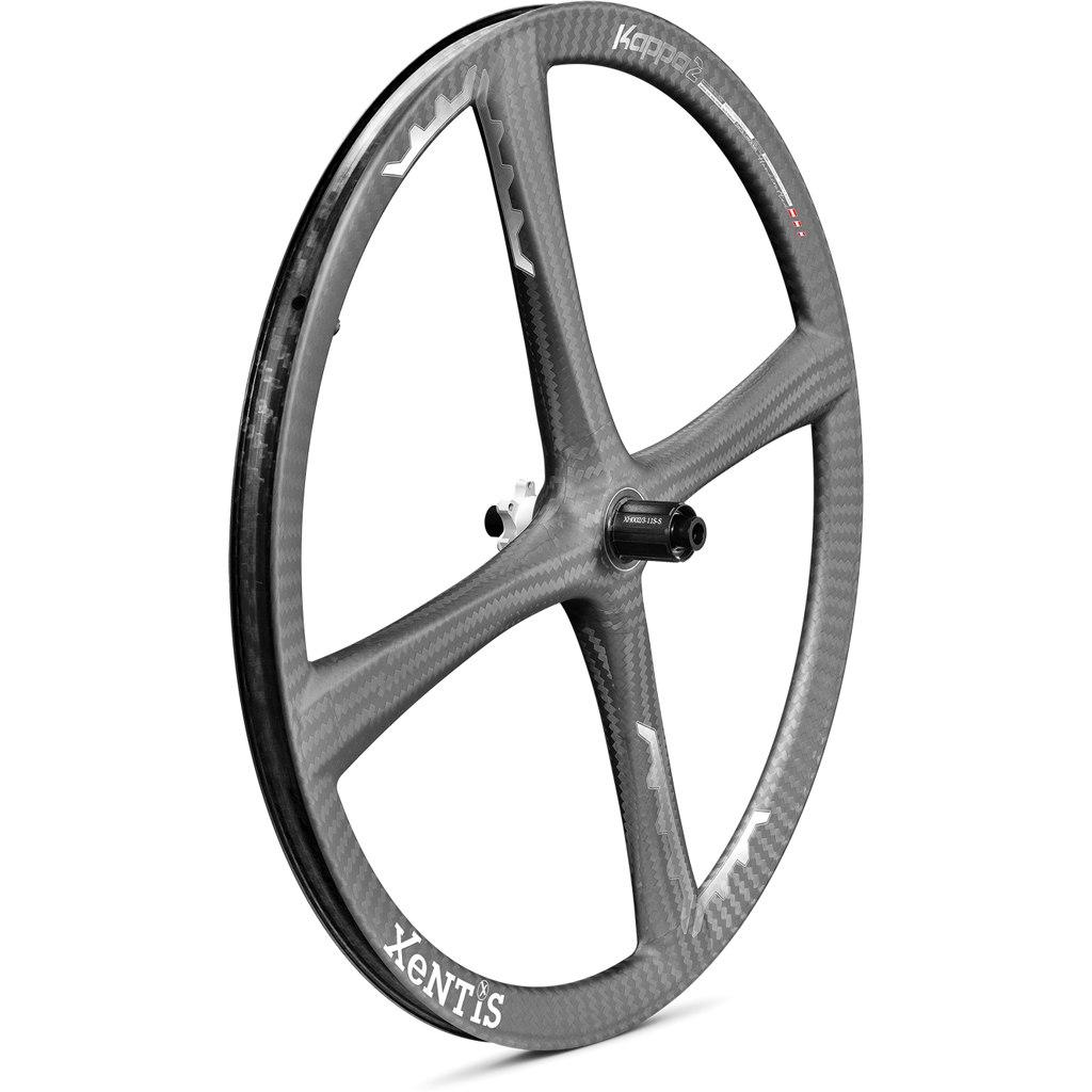 Xentis Kappa2 MTB - 27.5 Zoll Carbon Hinterrad - 6-Loch - 12x142mm - matt schwarz / weiß