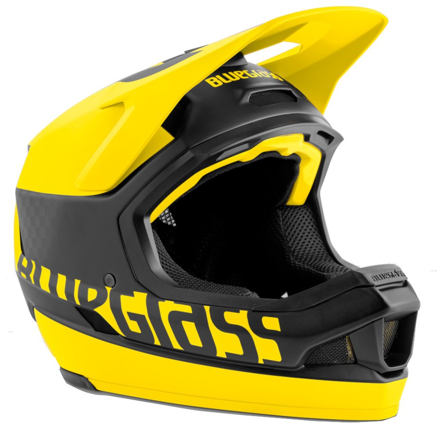 Bluegrass Legit Carbon MIPS Fullface Helmet - black yellow