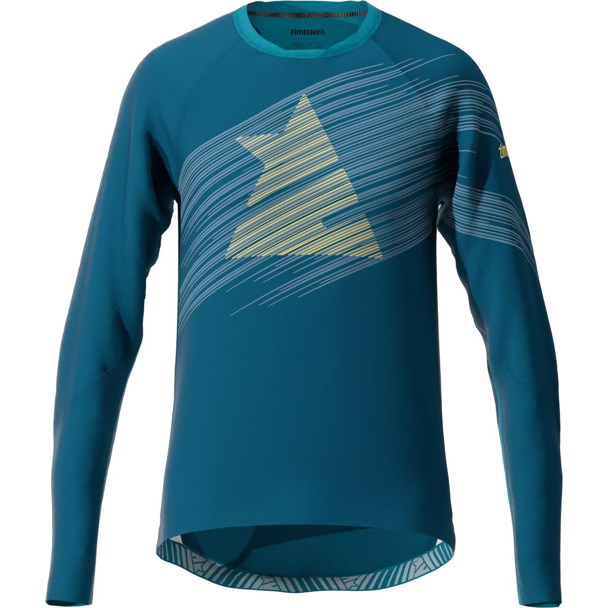 Zimtstern ProTechZonez Windbreaker MTB Long Sleeve Shirt - french navy/blue steele