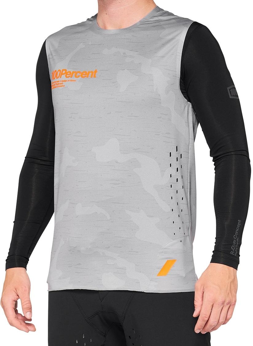 100% R-Core Concept Jersey sin mangas - grey camo