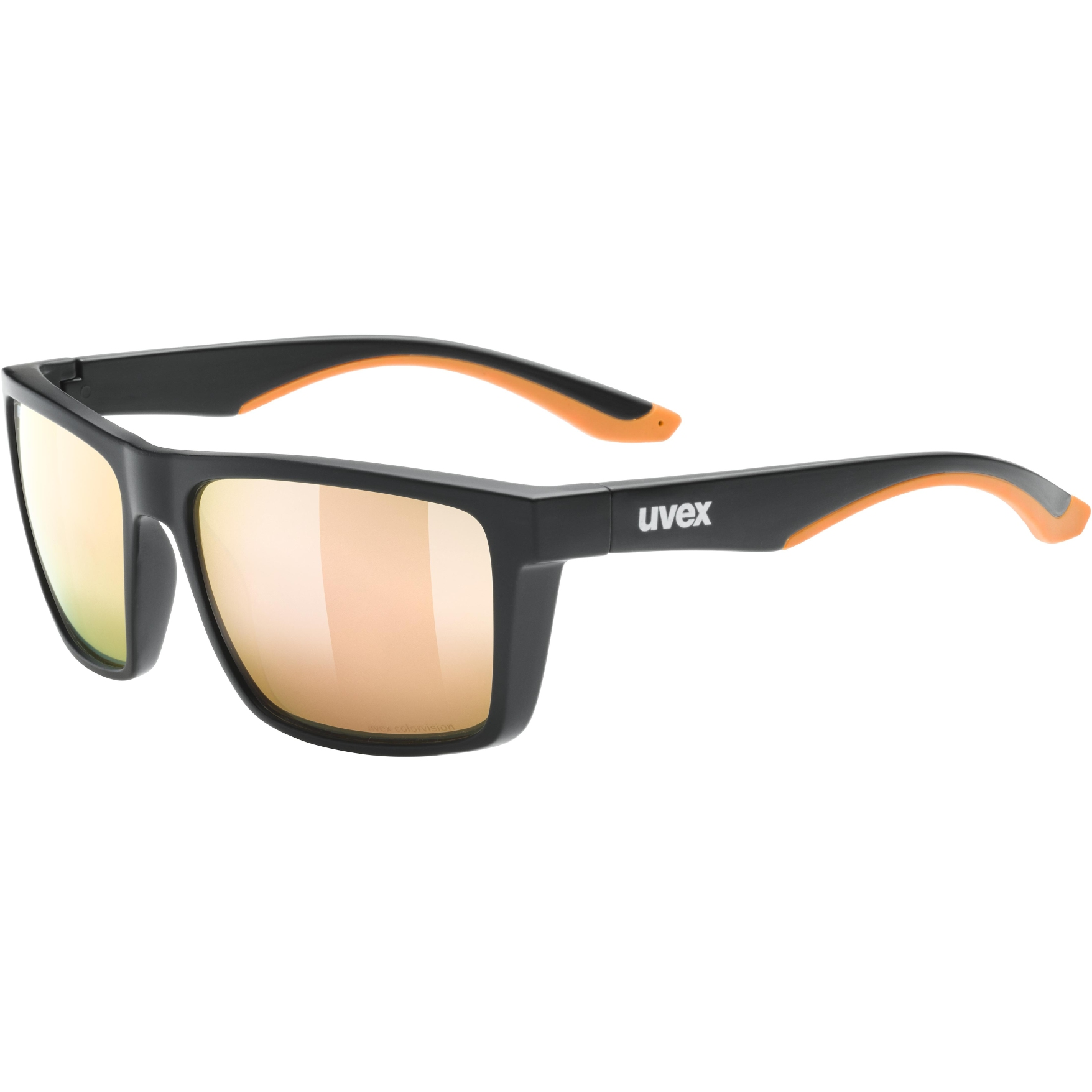 Uvex lgl 50 CV Glasses - black mat/colorvision mirror champagne