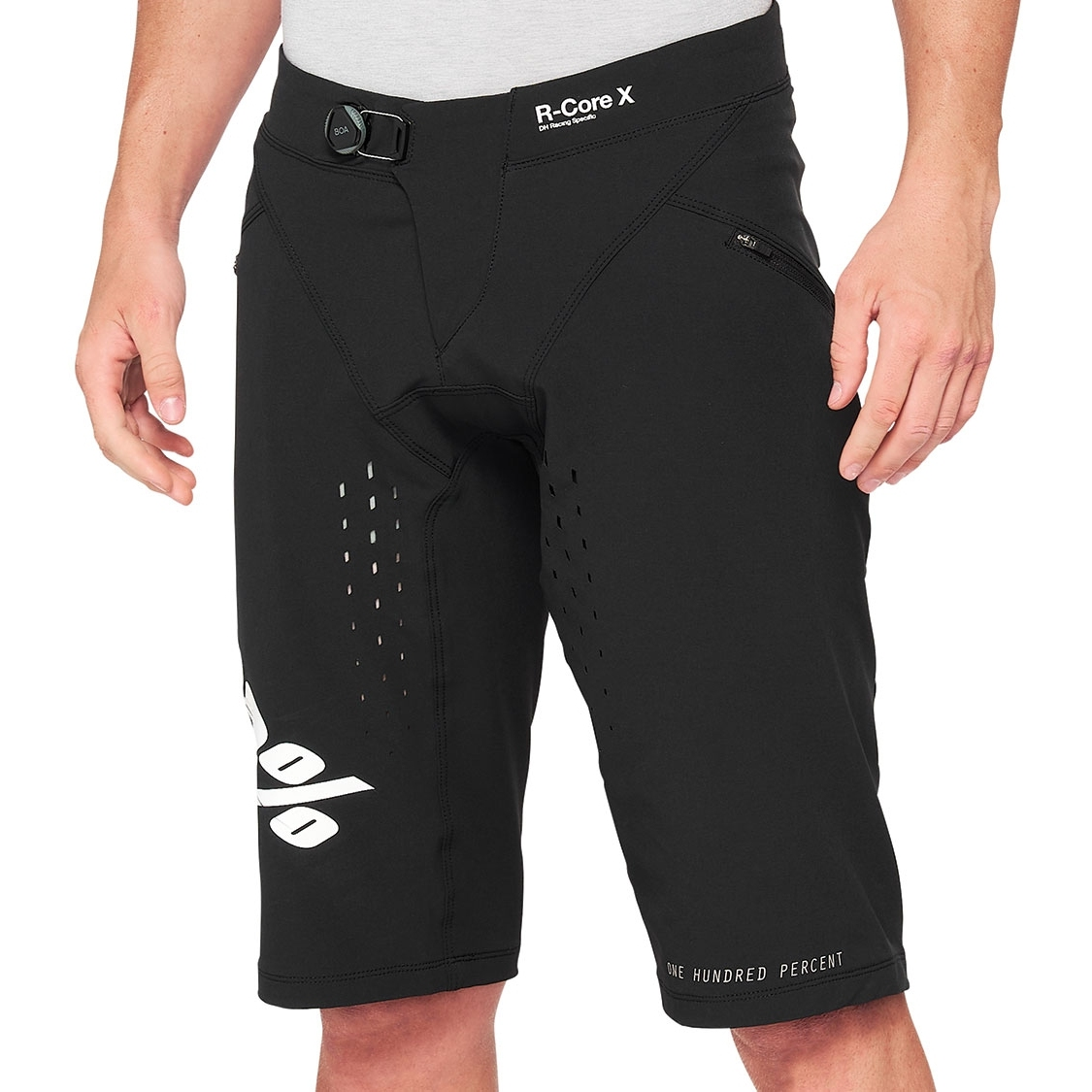 100% R-Core Youth Pantalones - negro