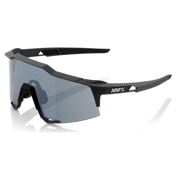 100% Speedcraft - Tall - Smoke Lense Gafas - Soft Tact Black/Smoke + Clear