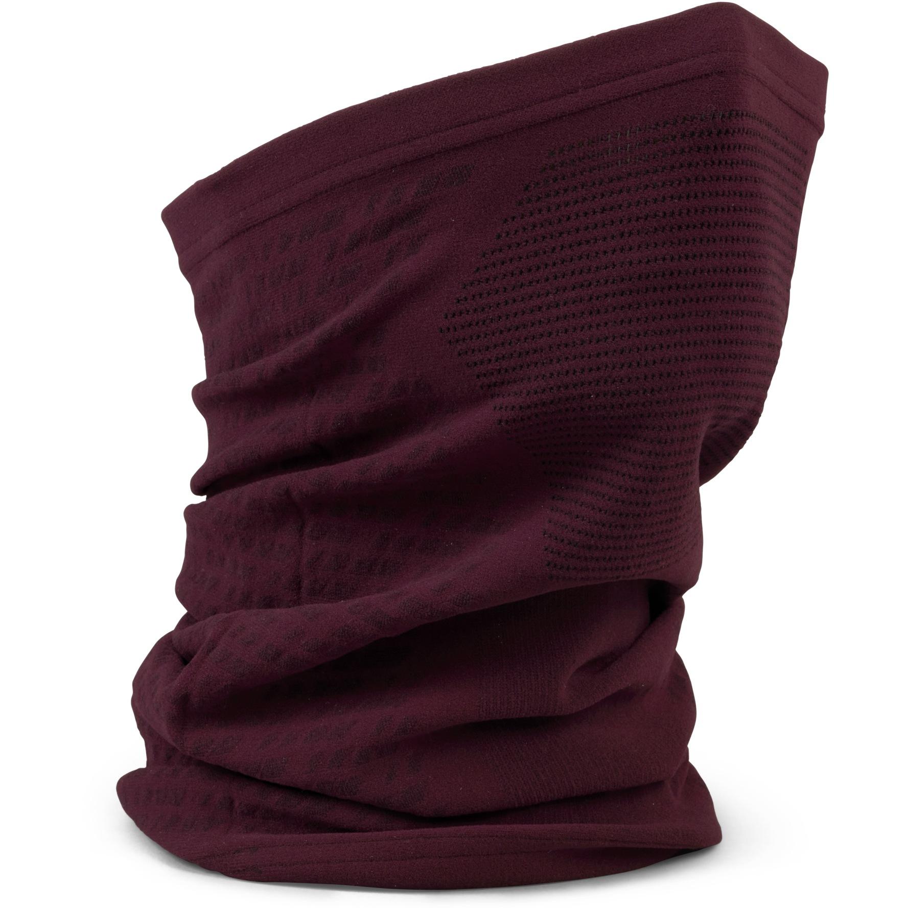 GripGrab Freedom Seamless Warp Knitted Neck Warmer - Dark Red