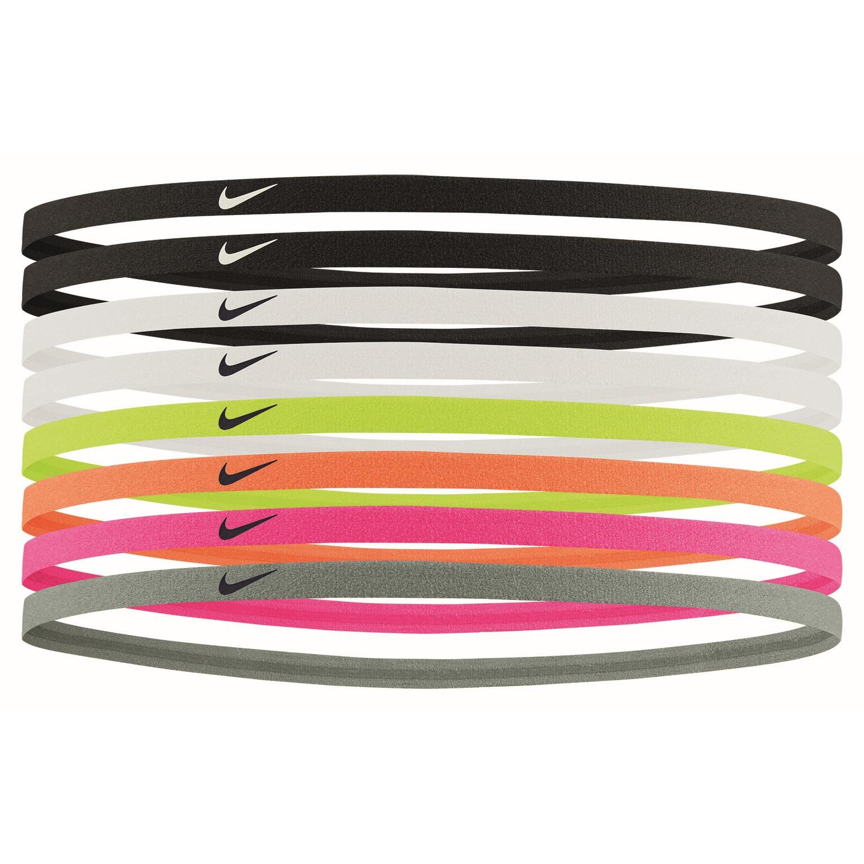 Nike Skinny Goma de pelo - 8 pares - black/black/white 909