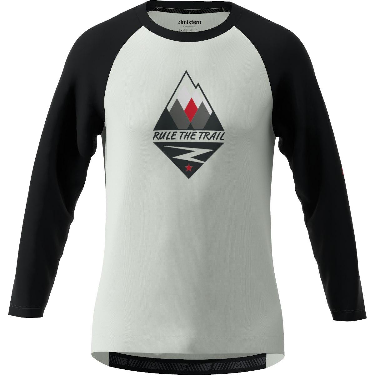 Zimtstern PureFlowz 3/4 Sleeve MTB-Shirt - glacier grey/pirate black/cyber red