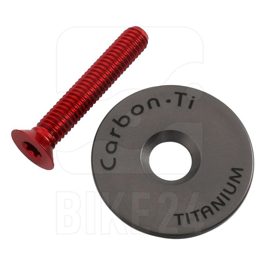 Carbon-Ti X-Cap 3 Ahead Cap - Titanium - red