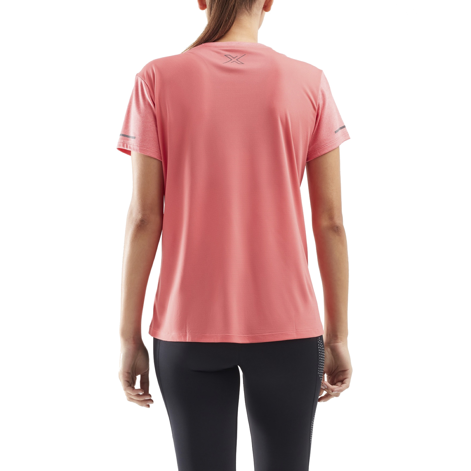 Image of 2XU XVENT G2 Shortsleeve Women's Tee - pink lift/silver reflective