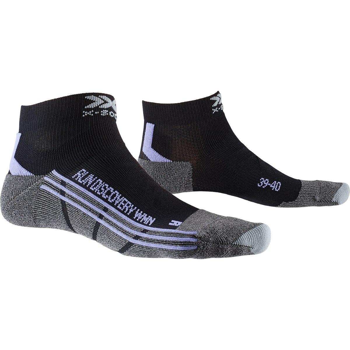 X-Socks Run Discovery Damen Laufsocken - black/pink