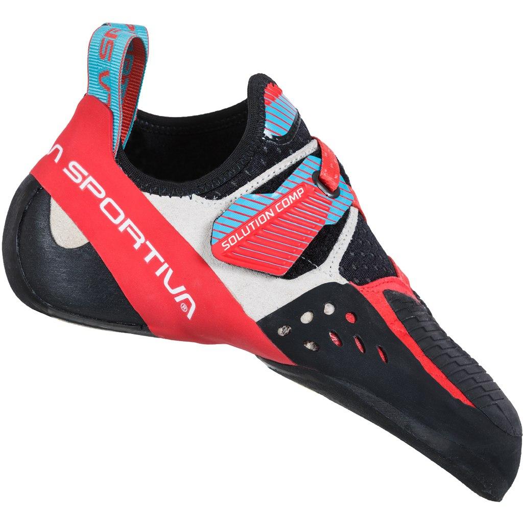 La Sportiva Solution Comp Kletterschuhe Damen - Hibiscus/Malibu Blue
