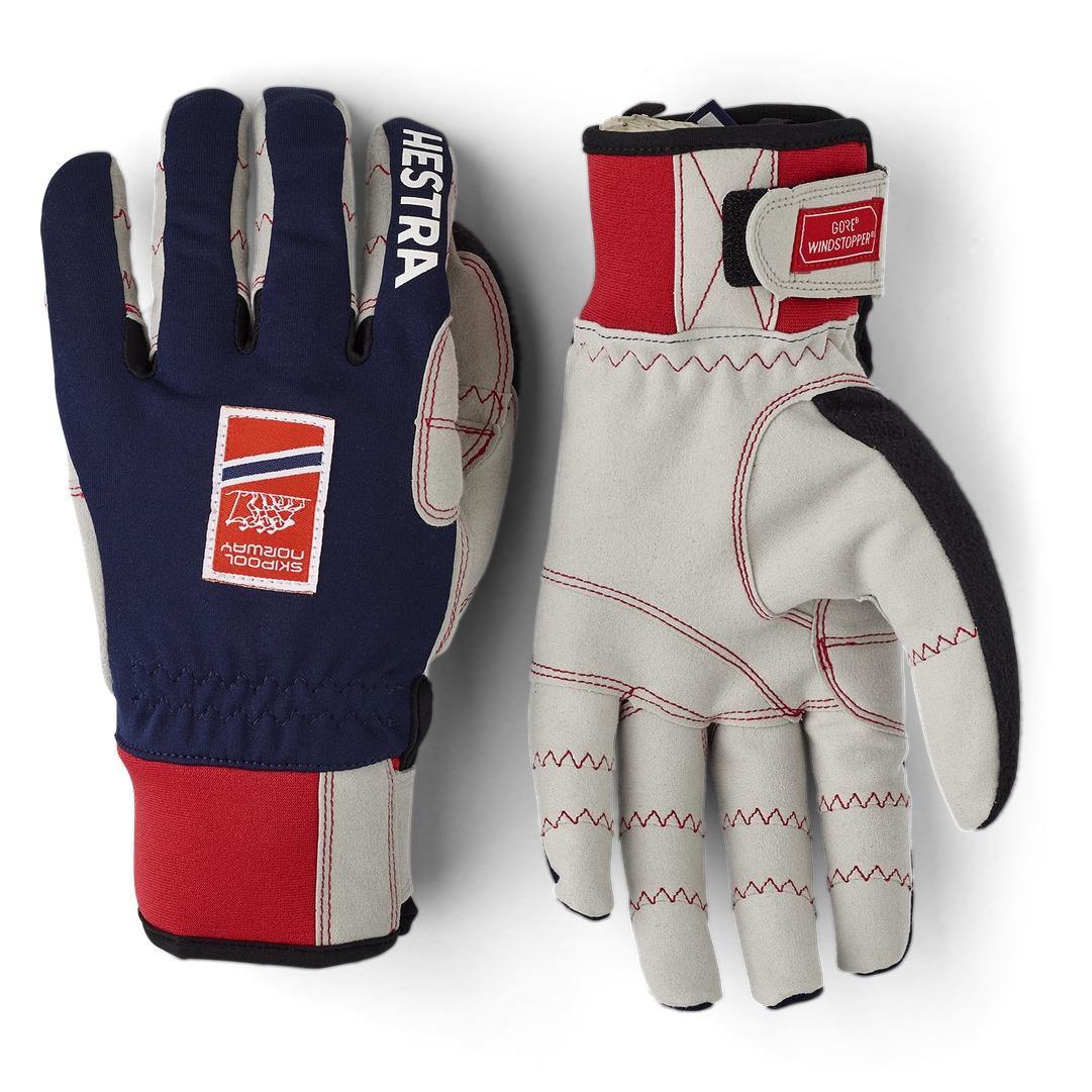 Picture of Hestra Ergo Grip Windstopper Race - 5 Finger Cross Country Gloves - navy