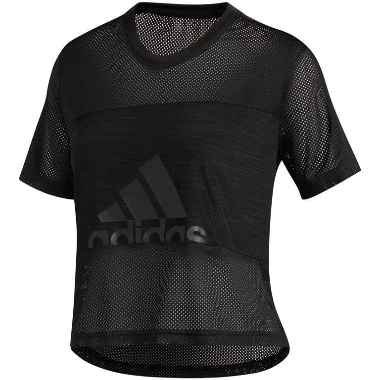adidas Women's Badge of Sport Mesh T-Shirt - black DX7534