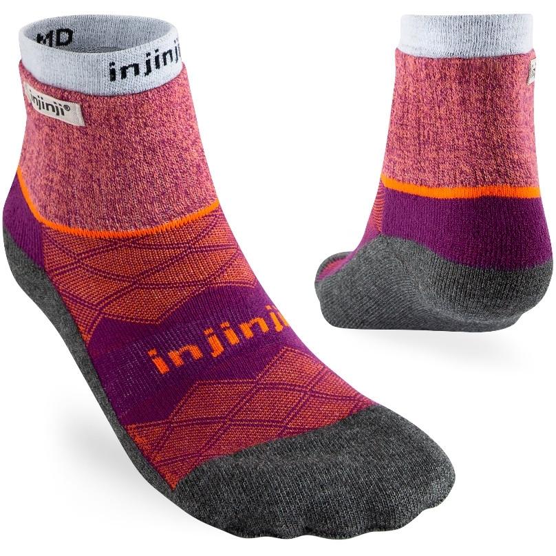 Injinji Women's Liner + Runner Mini-Crew Socken - Cranberry