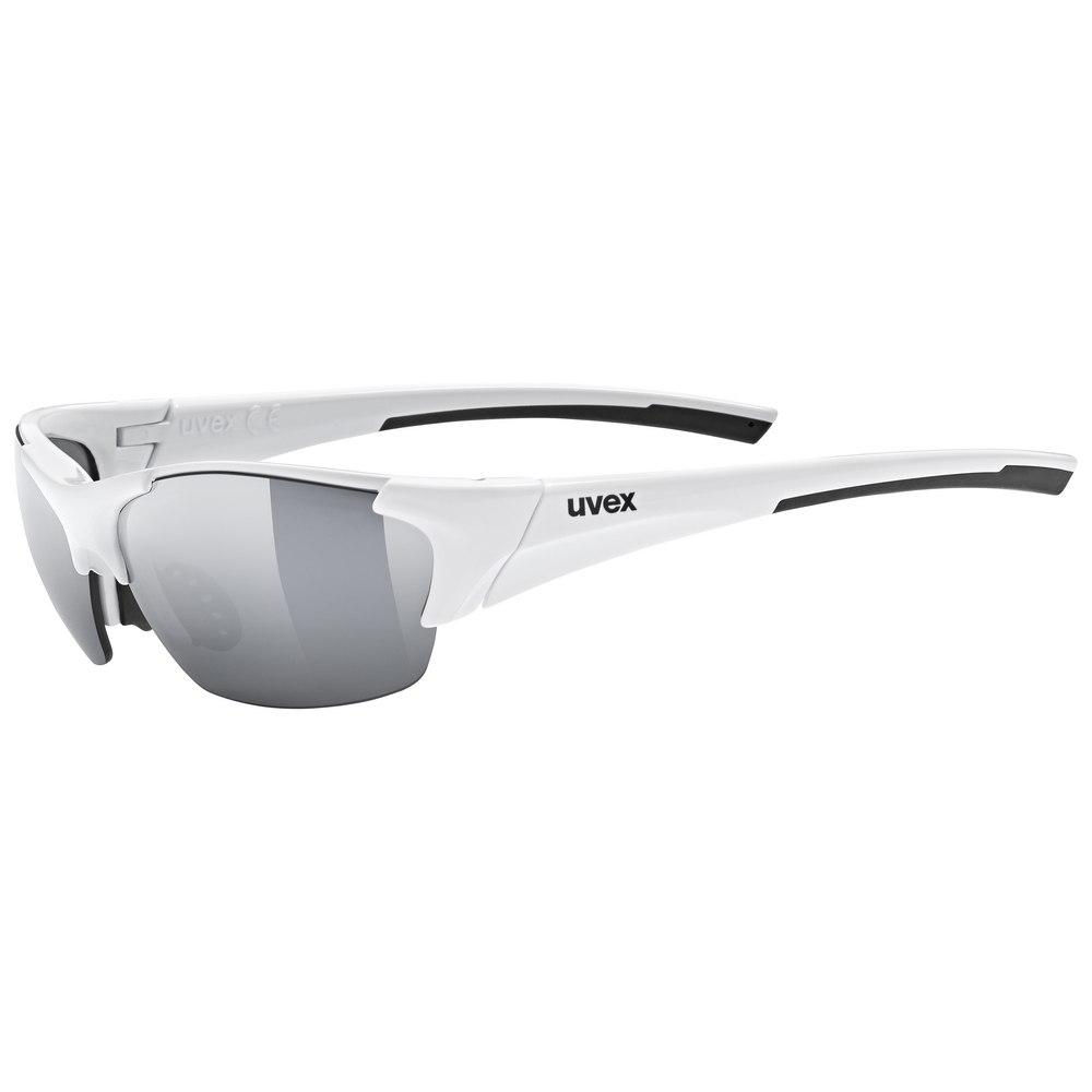 Uvex blaze III Glasses - white black /litemirror silver + litemirror orange + clear
