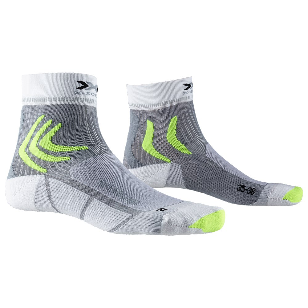 X-Socks Bike Pro Mid Socken - arctic white/dolomite grey