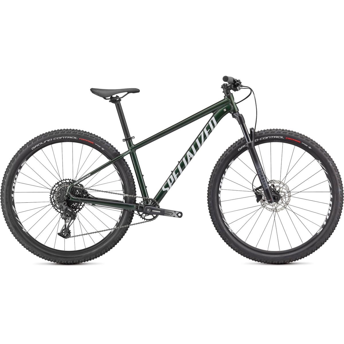 "Specialized ROCKHOPPER EXPERT - 29"" Bicicleta de montaña - 2021 - gloss oak green metallic / metallic white silver"