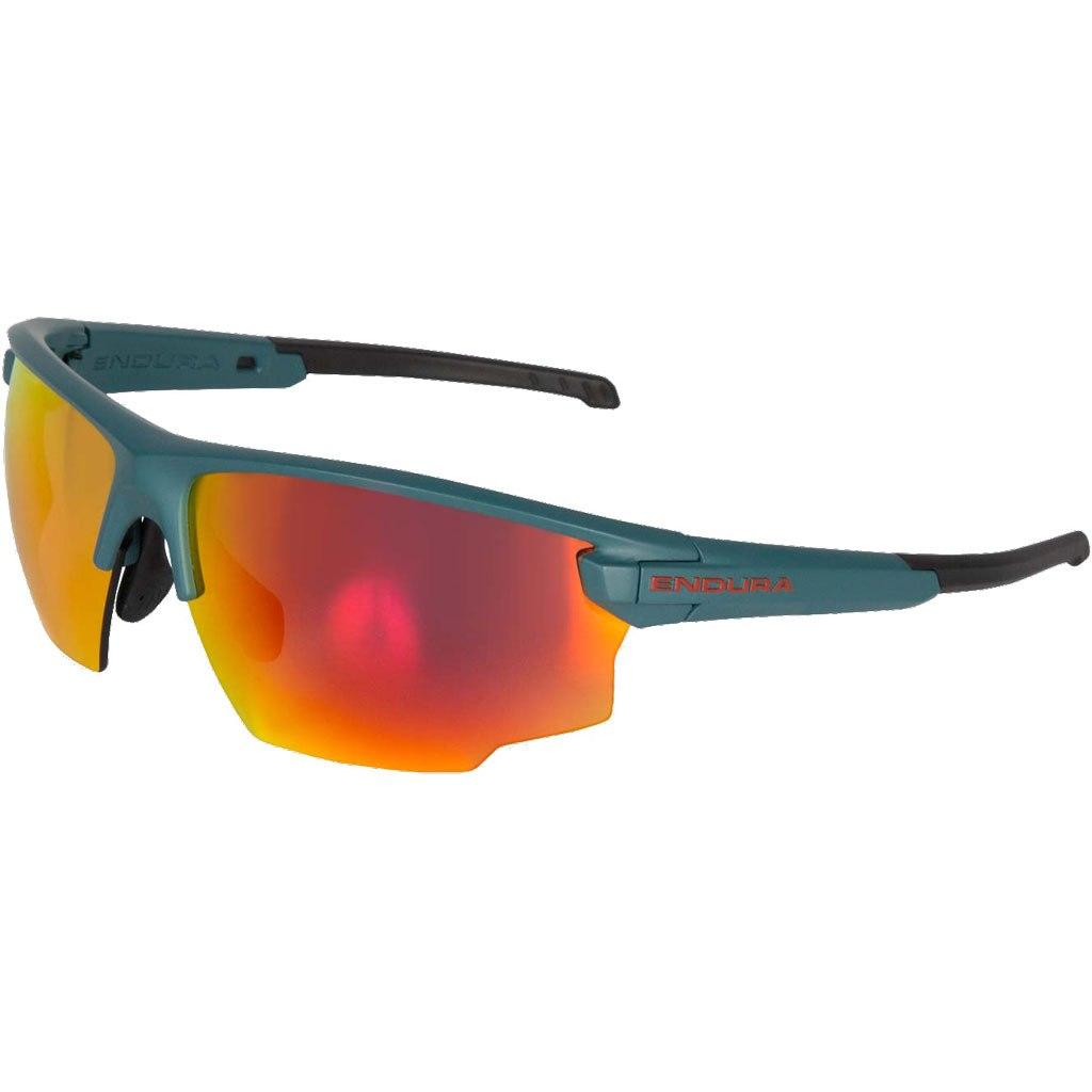Image of Endura SingleTrack Glasses - petrol/red REVO/orange/smoke
