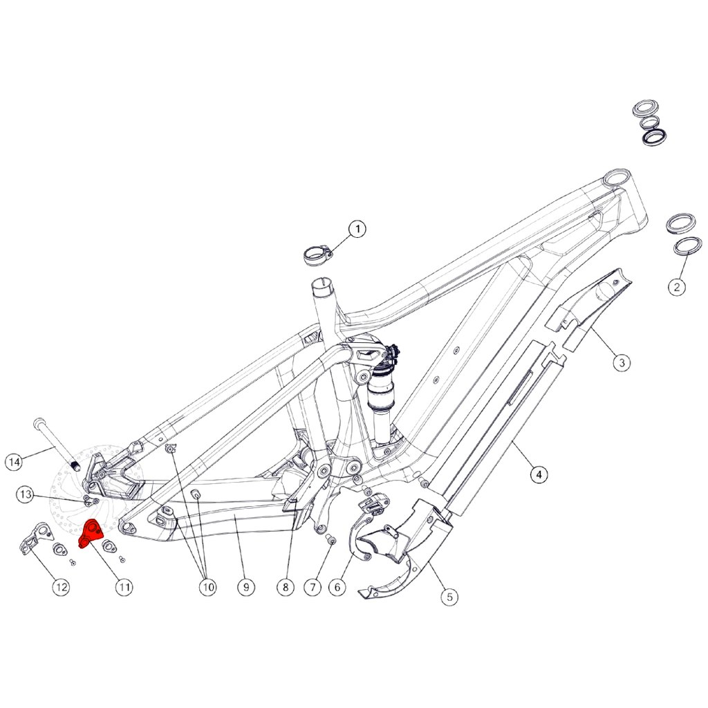BMC Derailleur Hanger #62 - 301234
