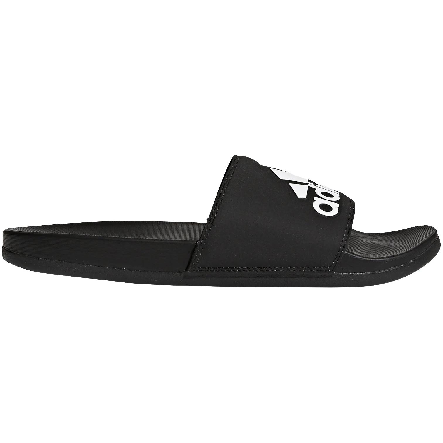 adidas Adilette Comfort Cloudfoam Plus Logo Slides Bathing Shoes - core black/core black/cloud white CG3425