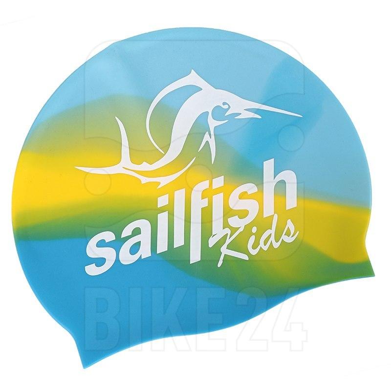 Bild von sailfish Silikon Schwimmkappe Kinder 2021 - blau/gelb