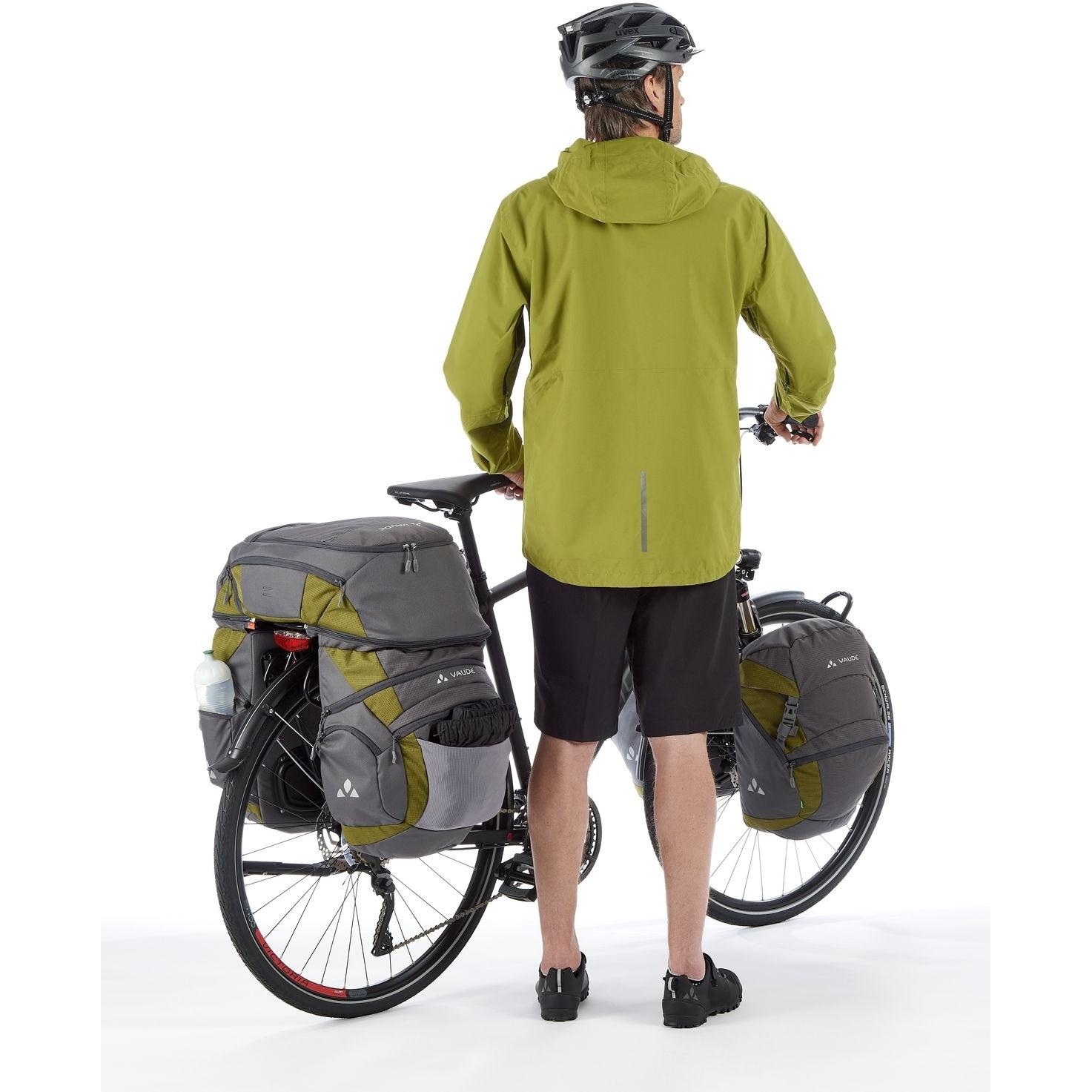 Image of Vaude Karakorum Pro Back Bike Pannier (Pair + Top Case) - black