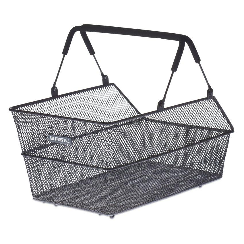 Basil Cento Multi System Bike Basket - black