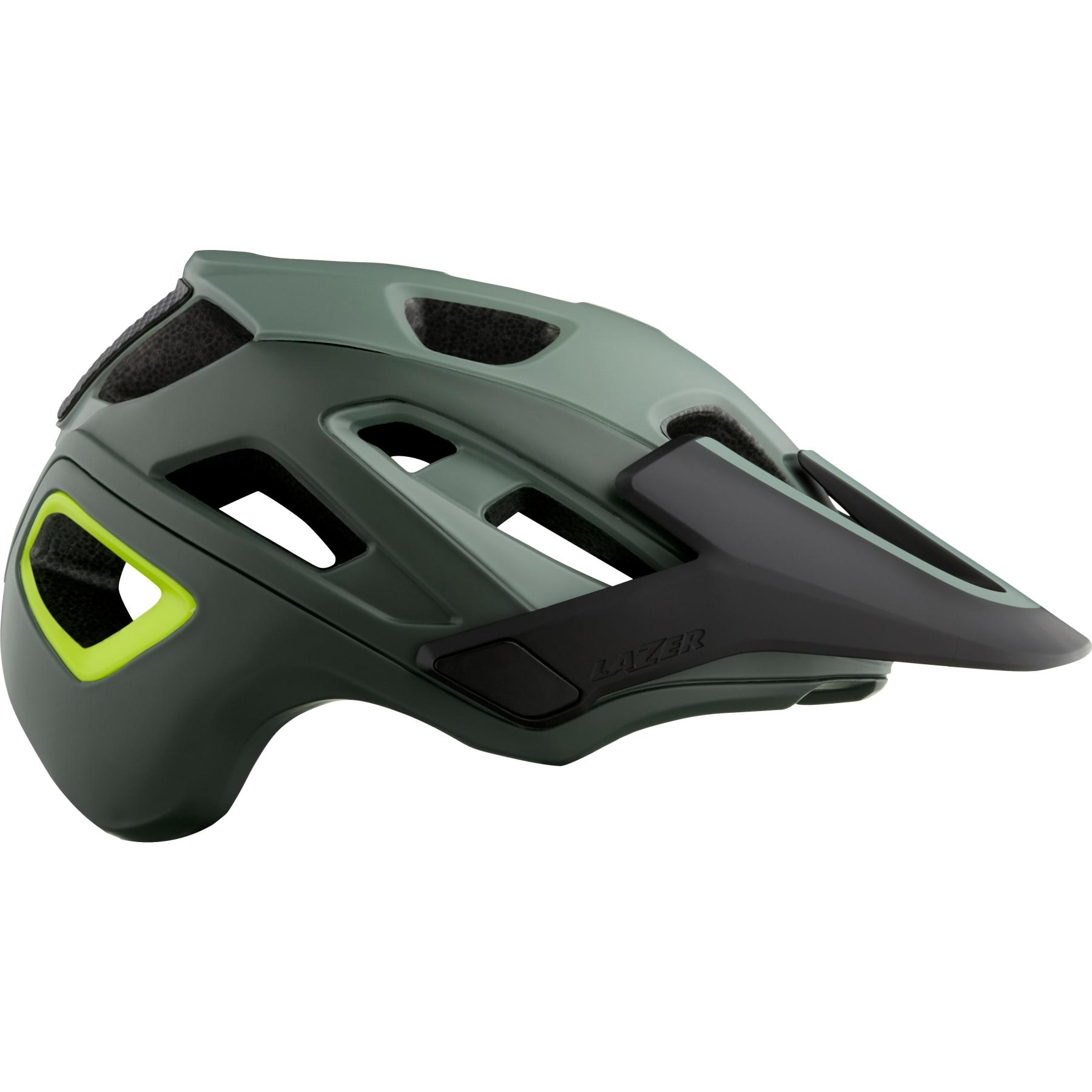 Lazer Jackal MIPS Helm - matte dark green flash yellow