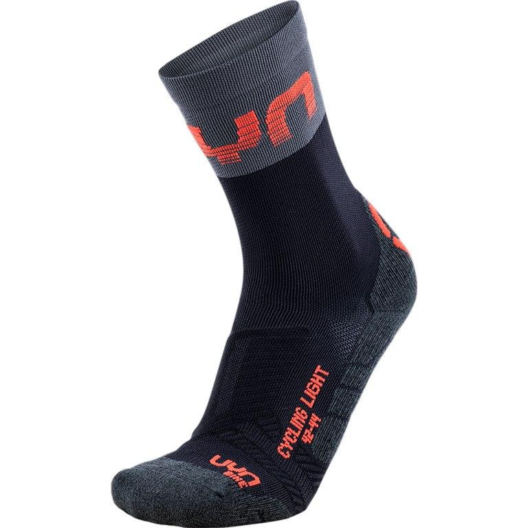 Image of UYN Cycling Light Socks - Black/Grey/Hibiscus