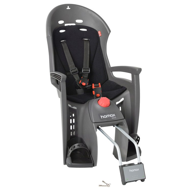 Hamax Siesta Fahrrad-Kindersitz - Grey/Black