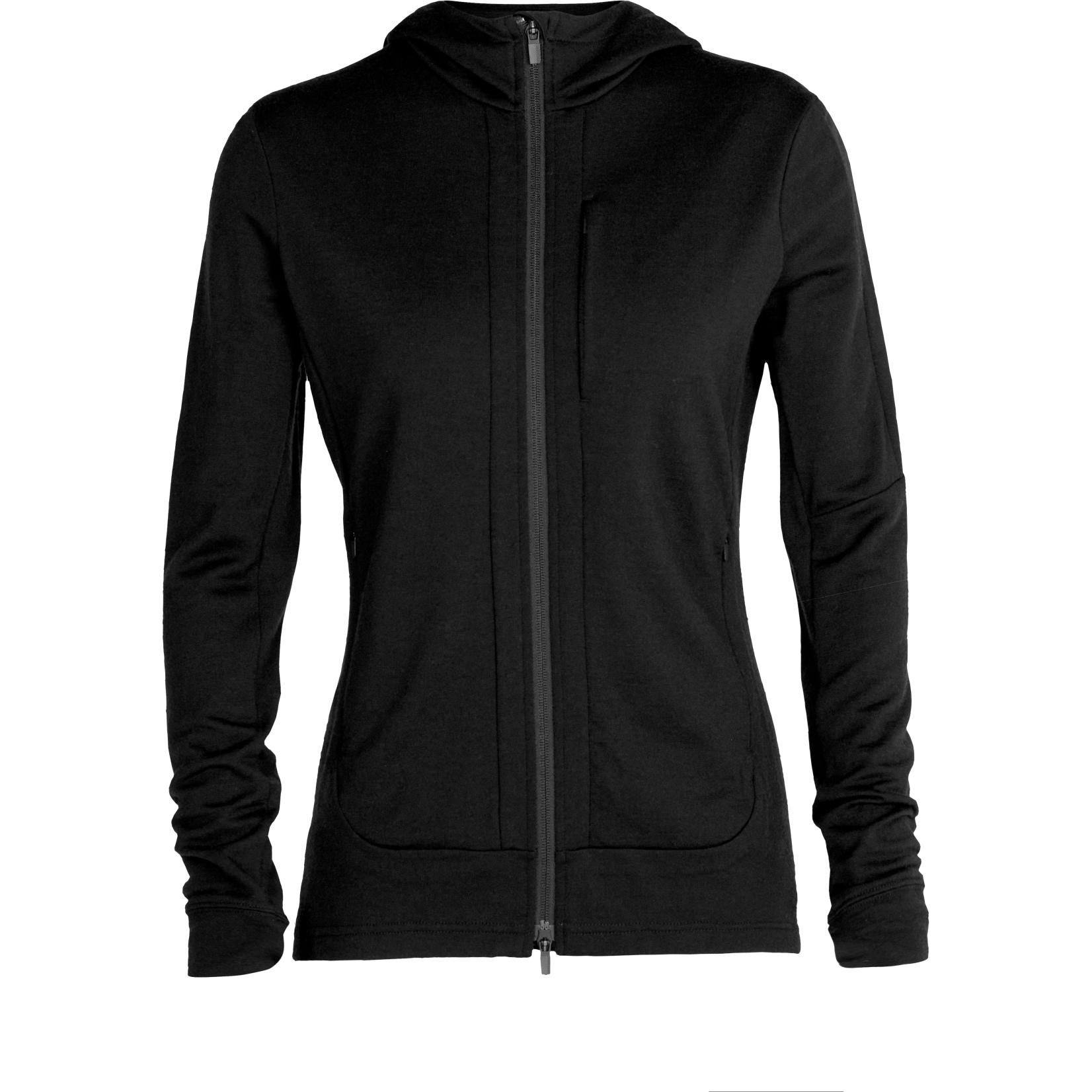 Produktbild von Icebreaker Quantum III Long Sleeve Zip Hood Damen Midlayer Jacke - Black