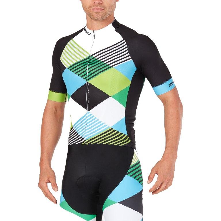 Imagen de 2XU SUB Cycle Short Sleeve Jersey MC4908a - black/green shapemania
