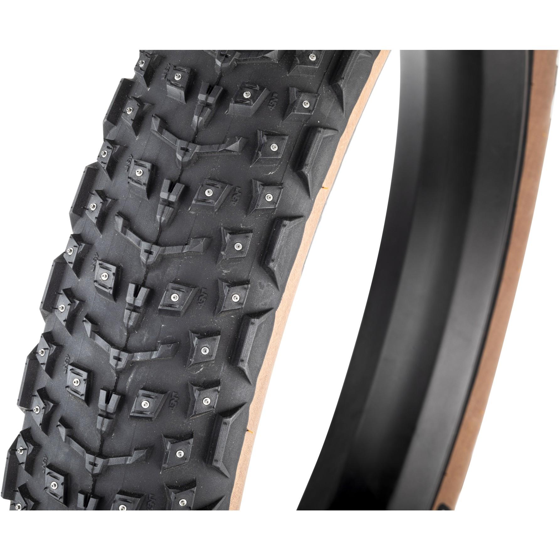 Imagen de 45NRTH Dillinger 5 Skinwall Fatbike neumático plegable - 258 studs - Tubeless Ready - 26x4.6 pulgadas - 60TPI