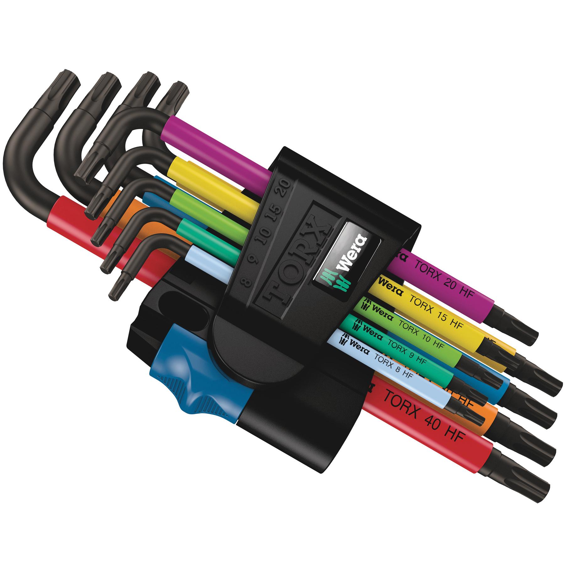 Bild von Wera 967/9 TX Multicolour HF 1 - Winkelschlüsselsatz Torx