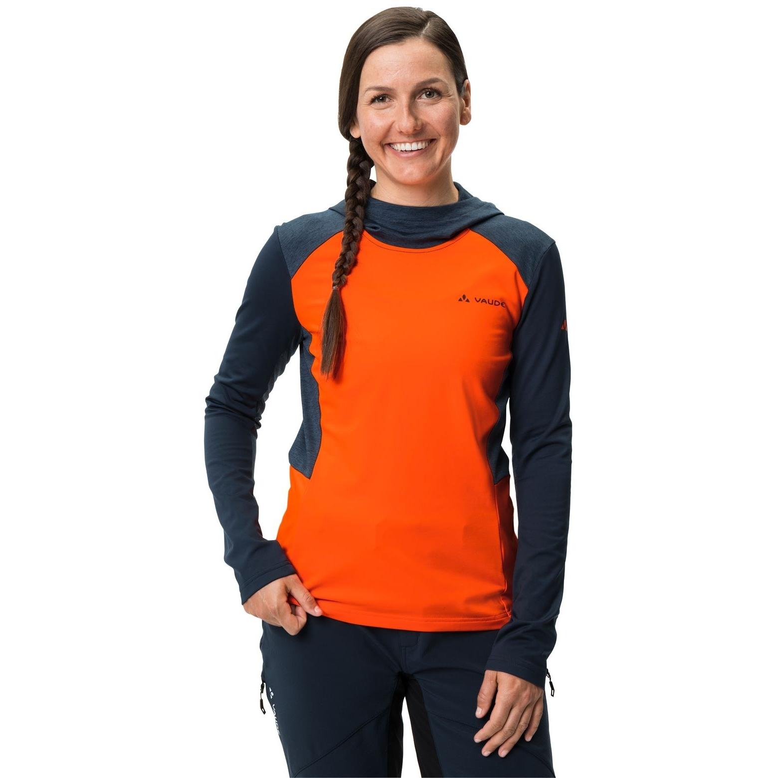 Image of Vaude Women's Qimsa LS T-Shirt - neon orange