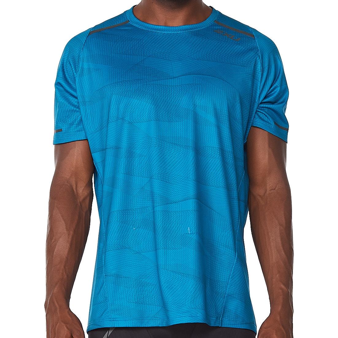 2XU Light Speed Camiseta - linear aquamarine/black reflective